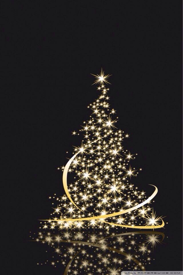 Christmass Tree Made Of Gold Stars Light Art Wallpaper Iphone Christmas Christmas Phone Wallpaper Christmas Tree Wallpaper Iphone