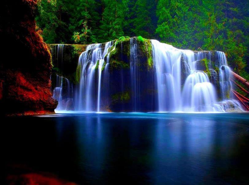 Waterfall Amazing Colors Chute D Eau Paysage Multicolore