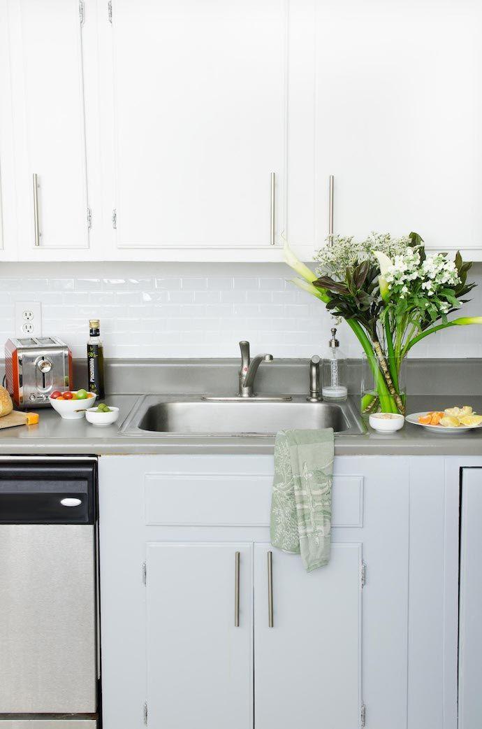 a delightfully refreshing blush blue atlanta home kitchen rh pinterest cl