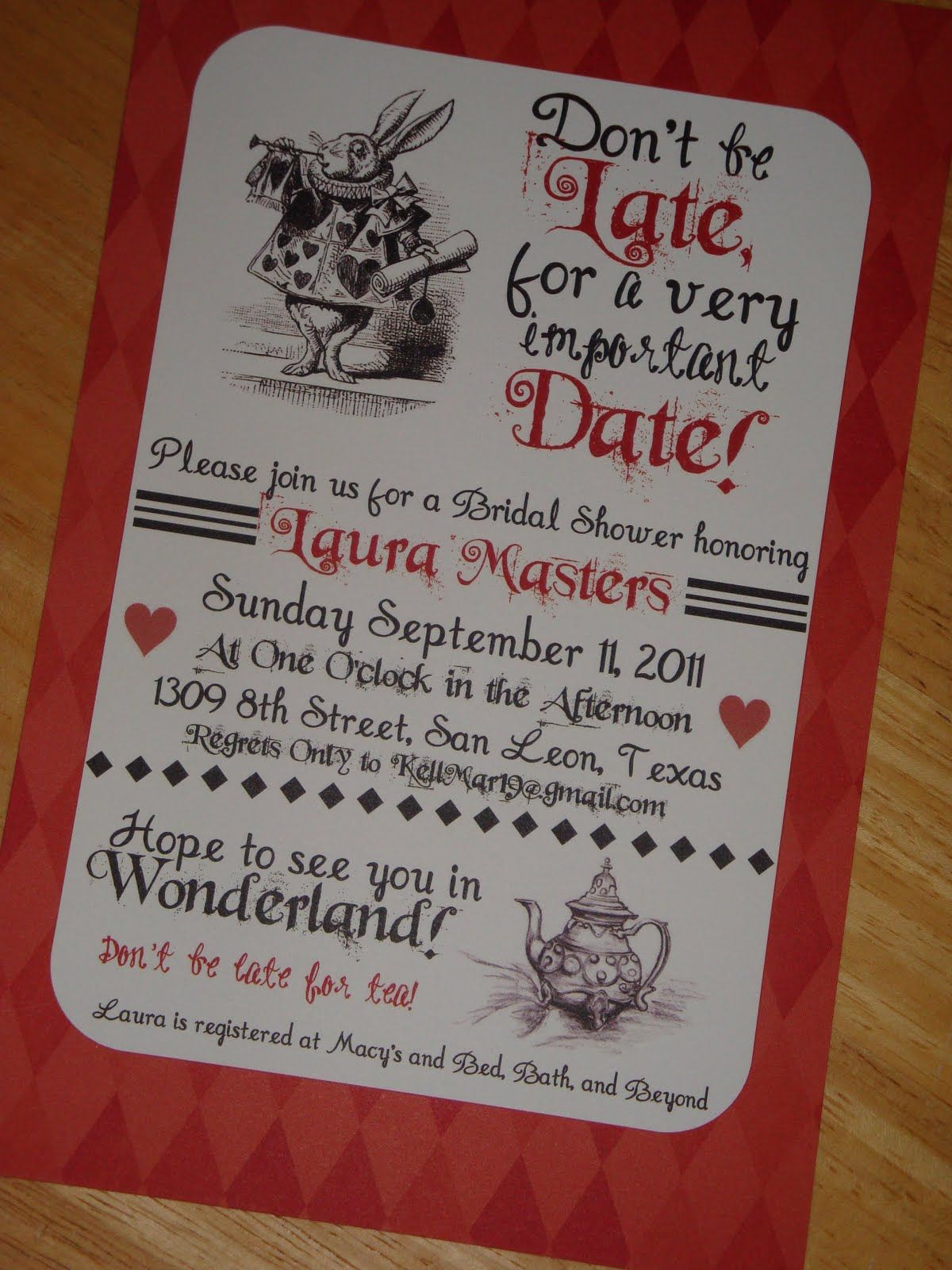 clever baby shower invitation wording%0A AwesomeAliceInWonderlandWeddingInvitations  Ideas