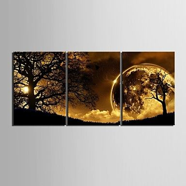 Stretched Canvas Art Dusk Under The Tree Set of 3 1920361 2016 – $91.51