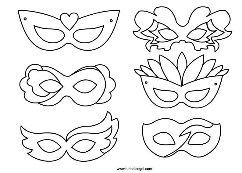Maschere di carnevale mascherine di carnevale da for Maschere di carnevale tradizionali da colorare per bambini da stampare