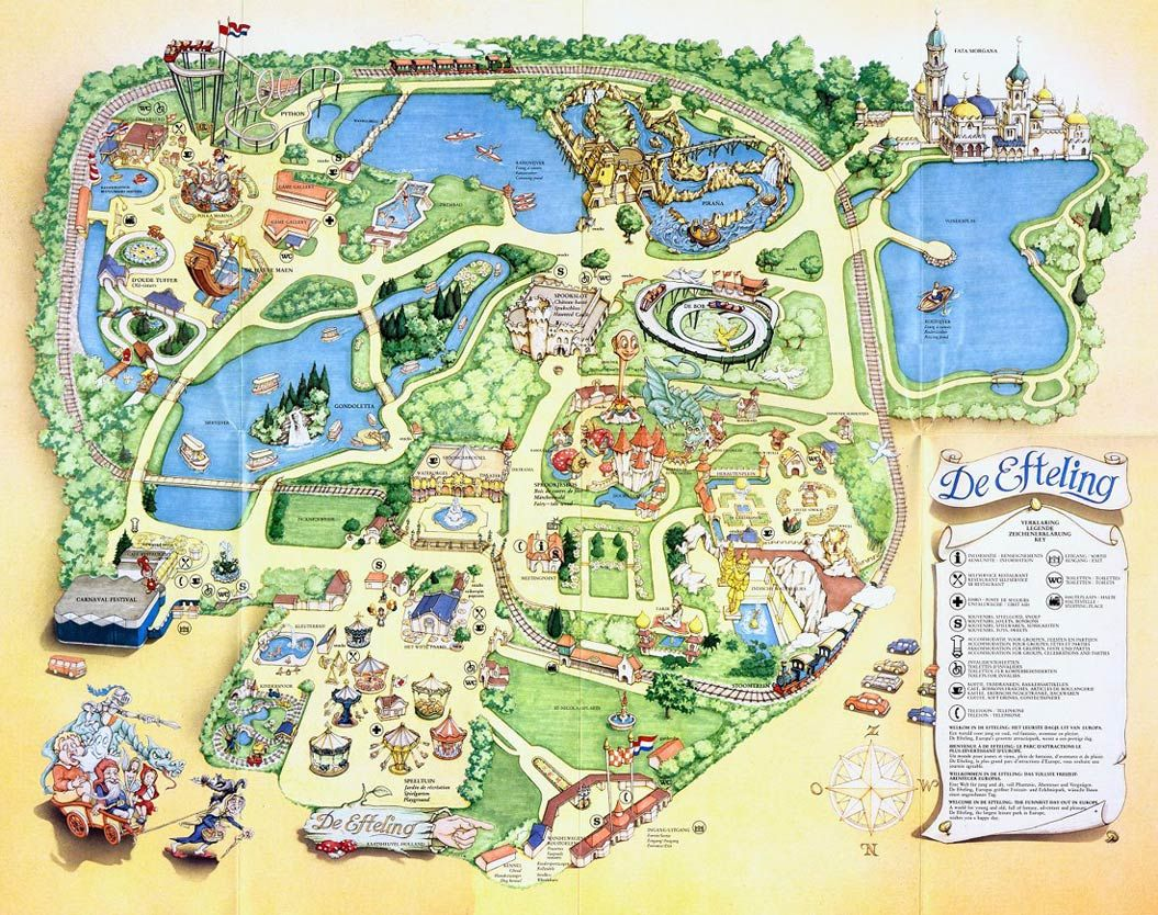 Efteling In The Netherlands I Have Always Remembered Going Here As A Kid For Field Trip Fairies And Magical Themed Theme Park Map Theme Park Park