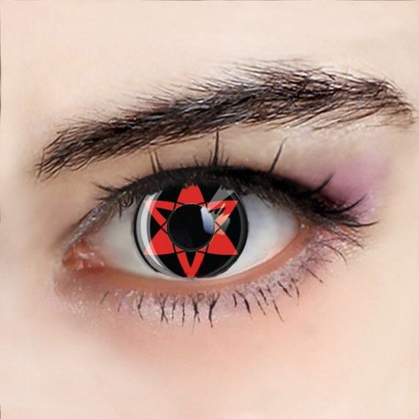 how to make sharingan contact lenses