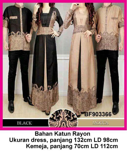 Baju Gamis Modern Terbaru - Detail produk model Baju muslim couple batik  366  Bahan   b16880f8e1