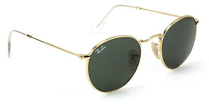 c3f3cc9680 Ray-Ban RB3447 001 Round Sunglasses Arista Gold   Crystal Green Lens 50mm