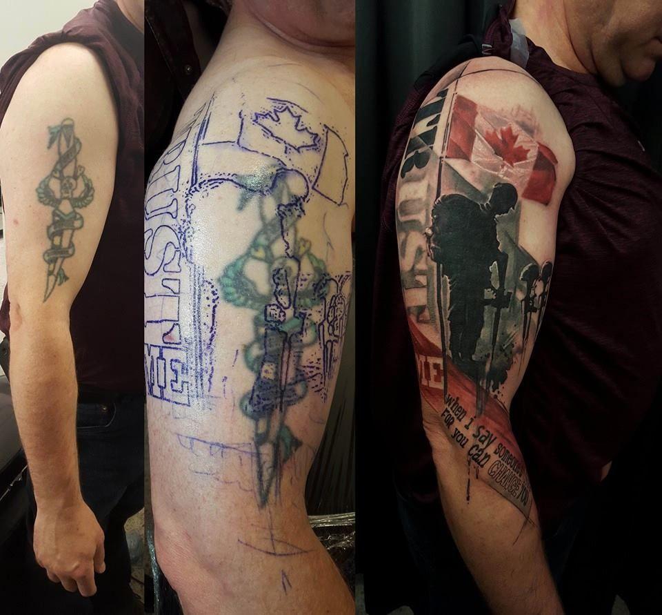 Chronic Ink Tattoos Toronto Tattoo Shop: Toronto Tattoo 1st Session Cover Up