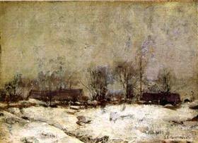 Winter Landscape, Cincinnati - John Henry Twachtman