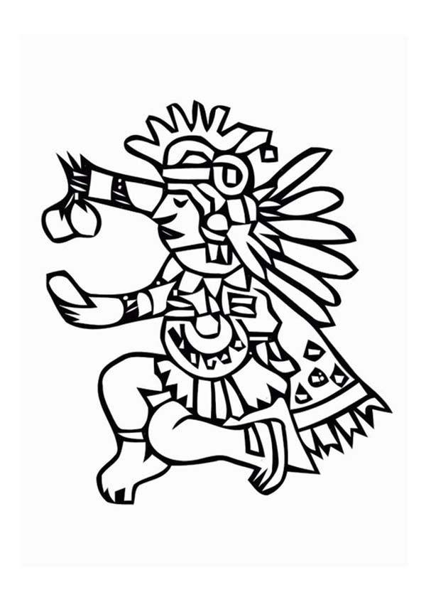 Aztec Tlaloc Coloring Pages Bulk Color Maya Art Art Aztec