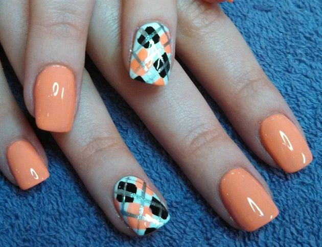 Argyle Loving By Aliciarock Nail Art Gallery Nailartgallery