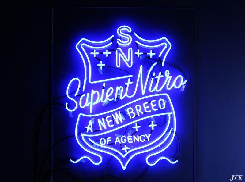 Smart, Cool, Blue Neon Sign. Sapient Nitro Agency jfkltd
