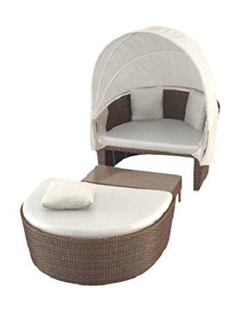 Artelia Bain De Soleil Resine Tressee Avec Auvent Et Table Raalia Chocolat Home Decor Outdoor Bed Outdoor Decor