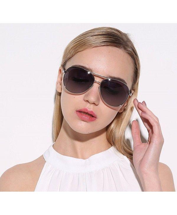 6d47141f2aa Women Polarized Aviator UV 400 Goggles Sunglasses-Mirrored-Metal ...