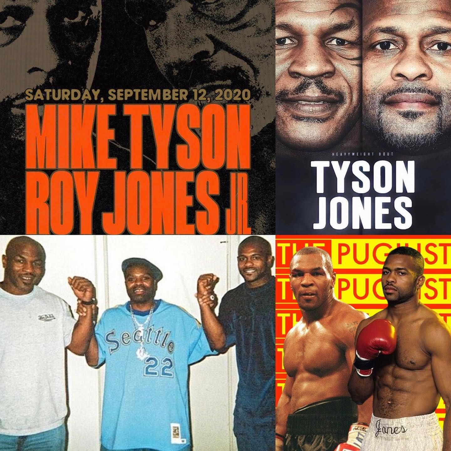 official card mike tyson vs roy jones jr jake paul vs nate robinson conor mcgregor vs mark wahlberg chuck liddell vs ti in 2020 roy jones jr nate robinson mike tyson pinterest