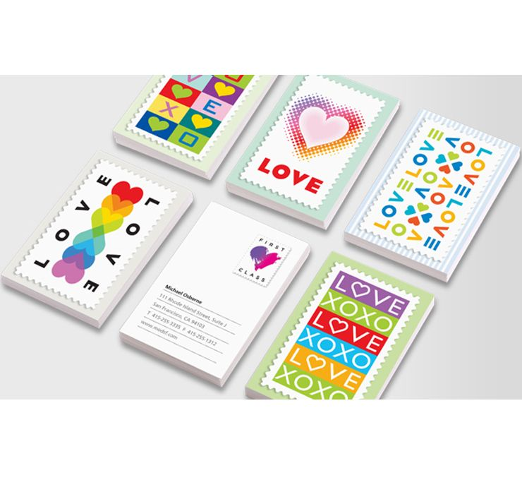Michael Osborne\'s Love Stamp inspired Luxe business cards for MOO ...