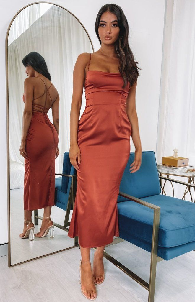 Haisly Midi Formal Dress Rust