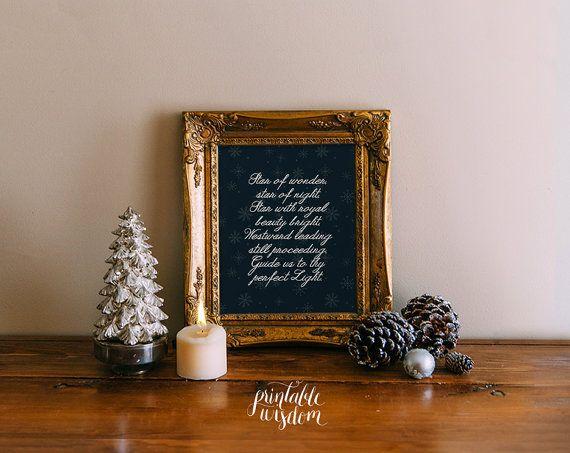 Christian Christmas decor printable decor print by PrintableWisdom, $5.00
