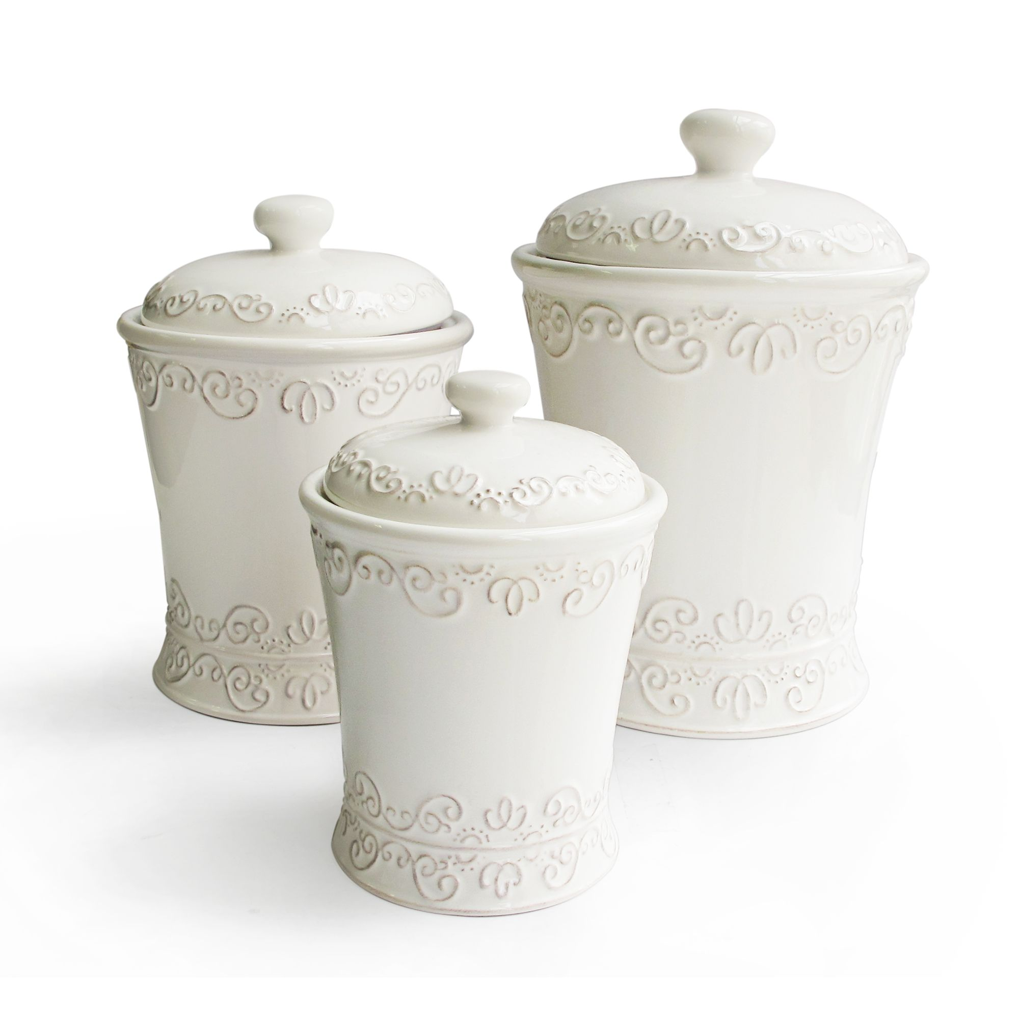 Bianca Scroll White Canister Set by American Atelier will be just ...