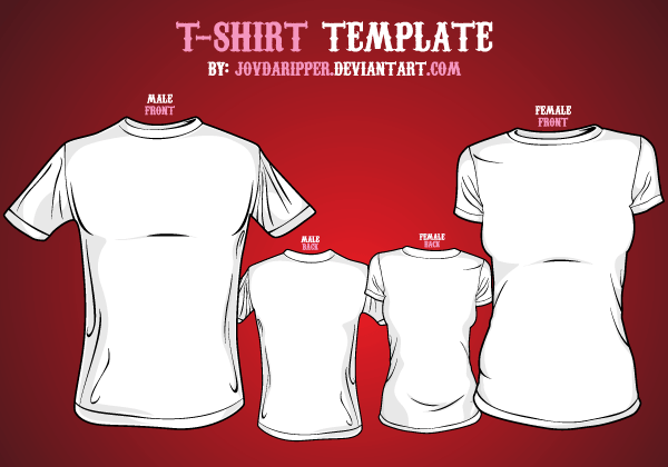 Vector T-shirt Template Front and Back | Vector T-Shirt Templates ...