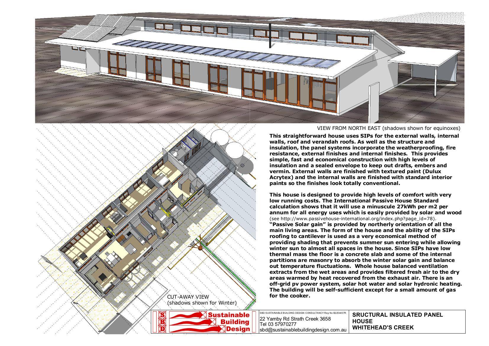Http Www Sustainablebuildingdesign Com Au Sips 20house 20whiteheads 20ck2 Jpg Passive House Design House Plans Australia House Designs Ireland