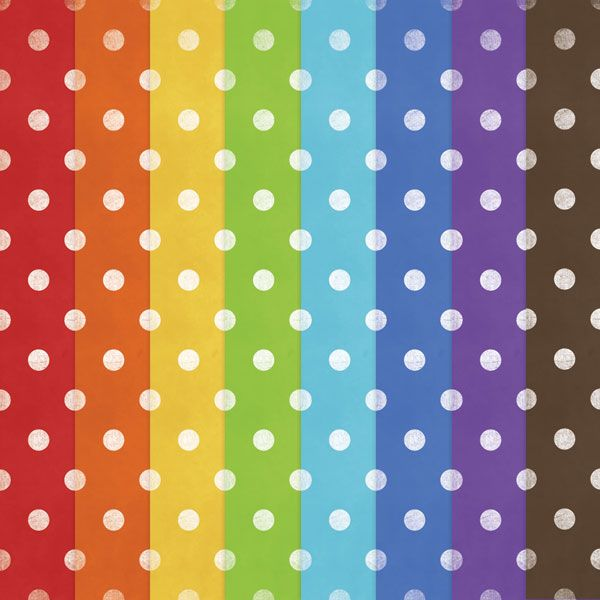 Free Printable Polka Dot Rainbow Papers — Digitalcardfun.Com | Diy