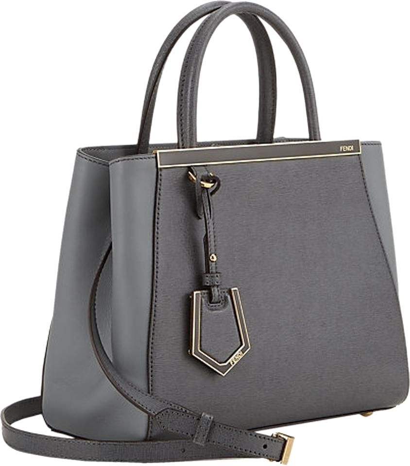 60361d64f2 Save 14% on the Fendi Petite 2jours Tote Saffiano Leather Gray Satchel!  This satchel is a top 10 member favorite on Tradesy.
