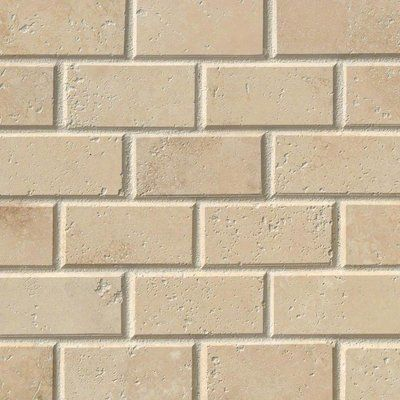 Tuscany Ivory 2 Quot X 4 Quot Travertine Mosaic Tile Tiles Wall