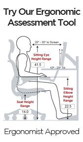 Super interactive tool (based on your height) to get the best ergonomic work setup.