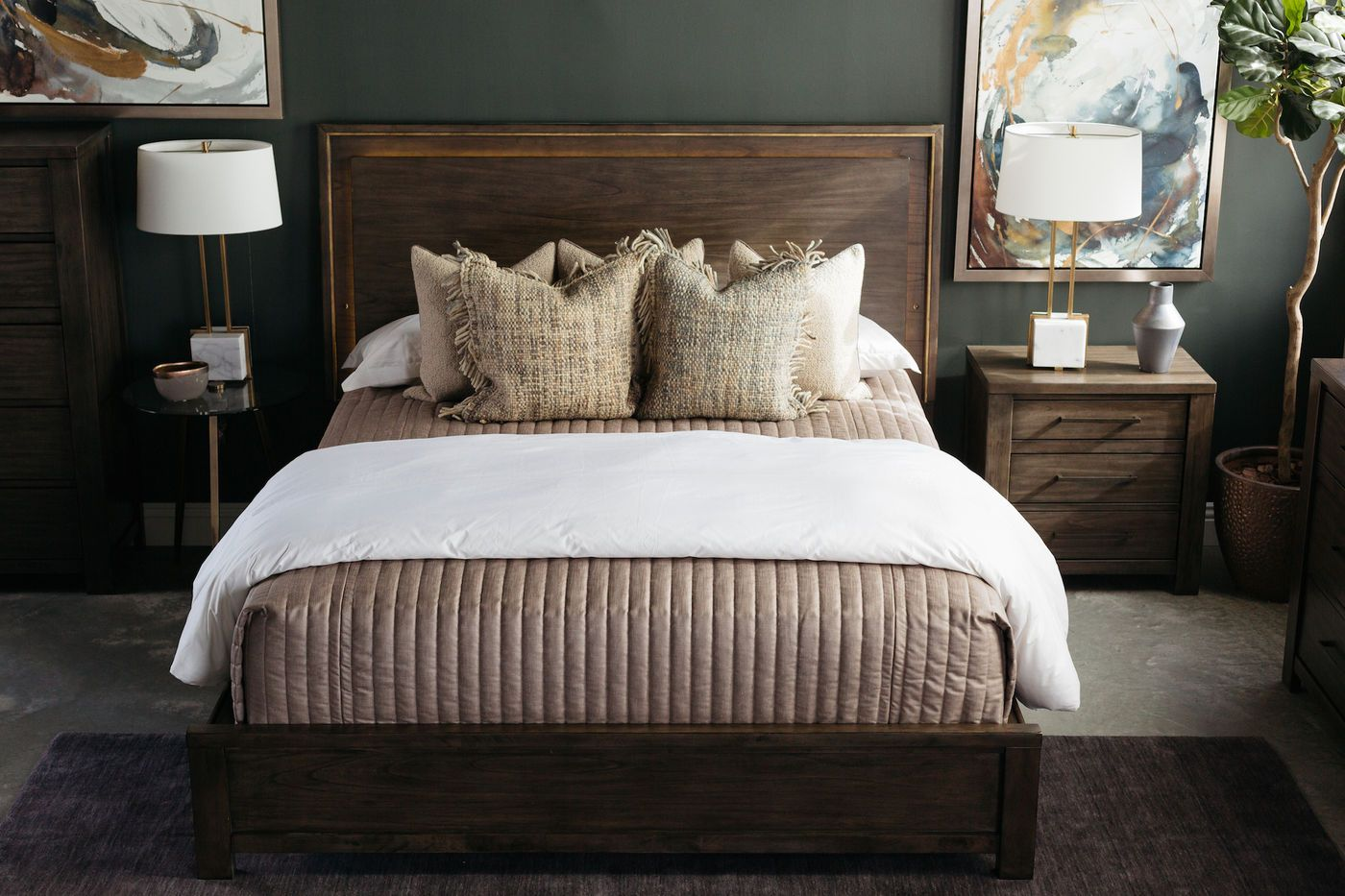 Contemporary Weathered Panel Bed in Dark Gray (With images