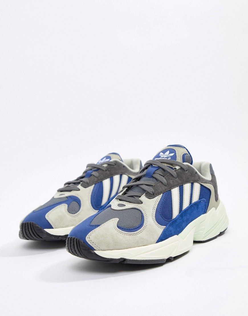 ADIDAS ORIGINALS YUNG 1 SNEAKERS IN GRAY MULTI BEIGE