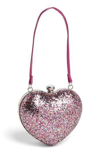 78024bc421 Capelli of New York Glitter Heart Shaped Handbag (Girls) available at # Nordstrom