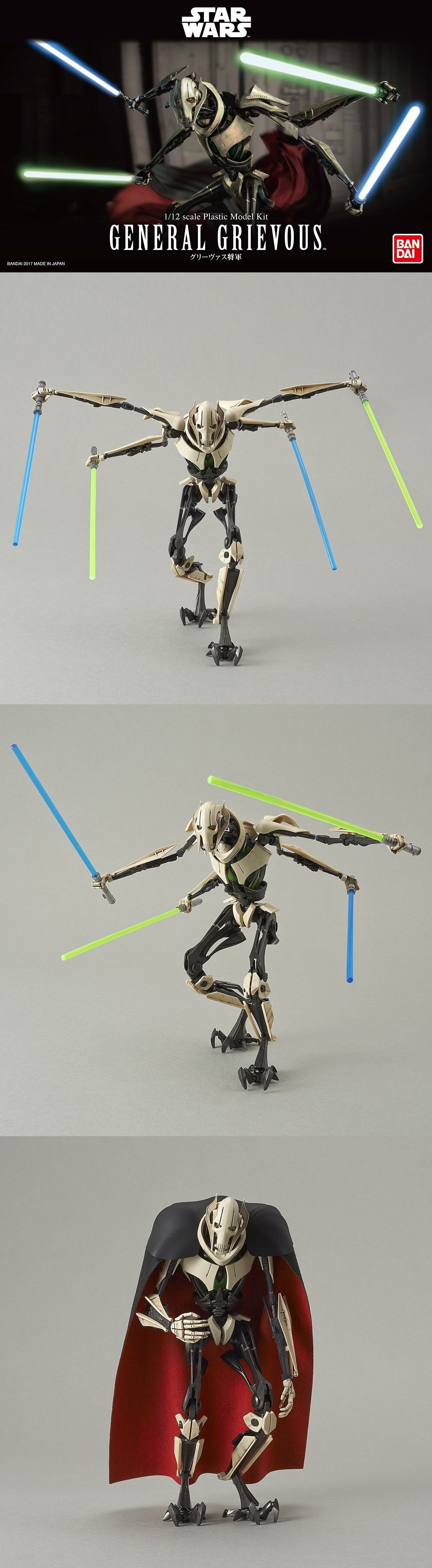 Bandai Hobby Star Wars General Grievous 1//12 Scale Model Kit Action Figure