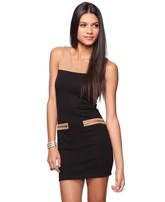 Sleeveless Colorblock Dress - StyleSays