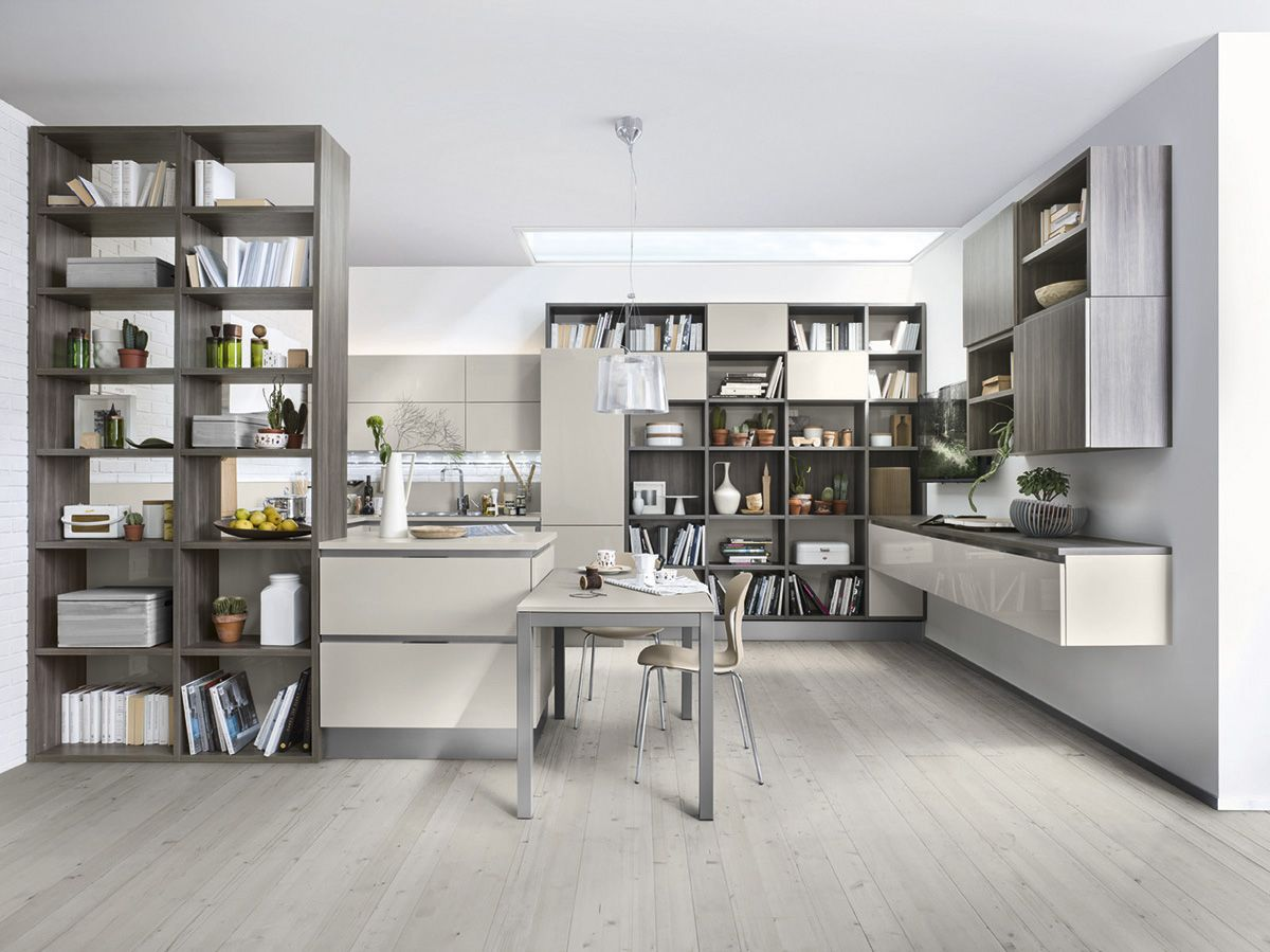 Varianti per Veneta Cucine #Living CEDRO SCURO e BEIGE ARENA ...