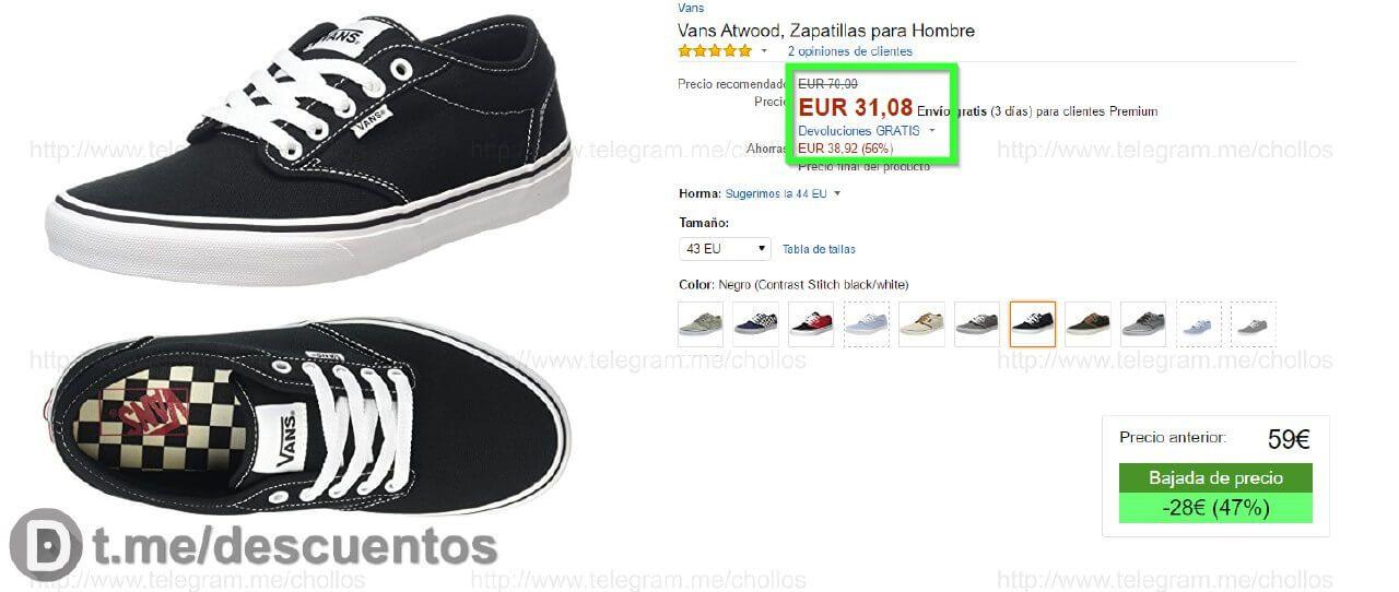 zapatillas vans ofertas