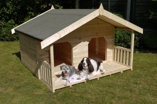 Luxury Double Dog Kennel Summerhouse For 2 Large Dogs Unique Design Manufactured In Swedish Redwood Timbe Double Dog House Cool Dog Houses Wooden Dog Kennels