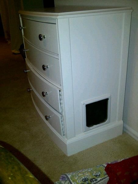Dresser Transformed Into Litter Box Cover Litter Box Covers Diy