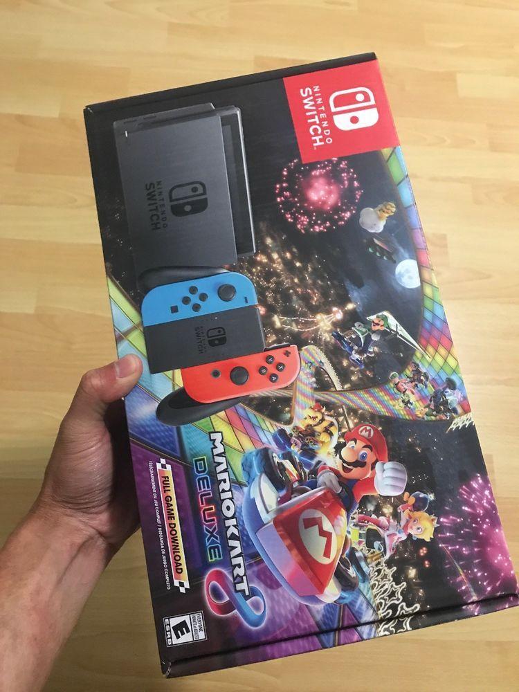Nintendo Switch Mario Kart 8 Deluxe Console Bundle Neon