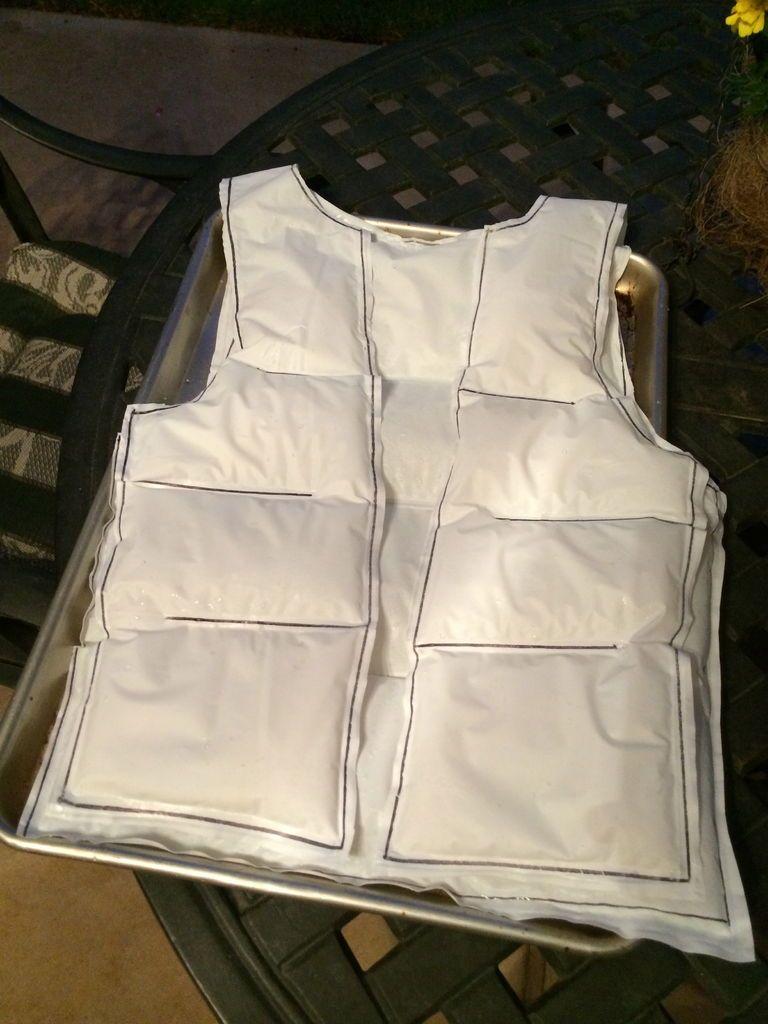 Diy Cooling Ice Vest Ice Vest Cooling Vest Vest