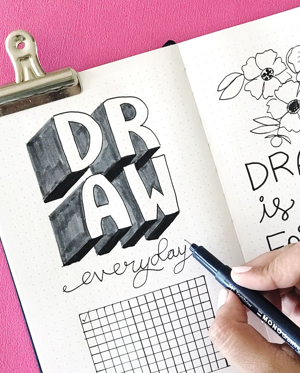 Smitha Katti Archer Olive Dot Journaling Ideas Black And