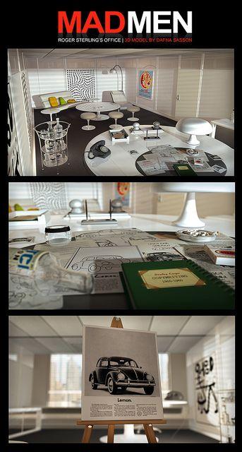 roger sterling office. MAD MEN 3D | Roger Sterling\u0027s Office, Modeled In Lightwave. I Know Wasn Sterling Office K