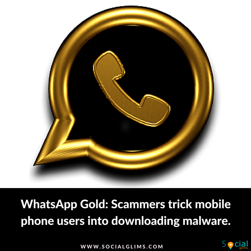 WhatsApp Gold Scammers trick mobile phone users into