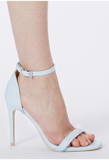 4540b1743b3 Clara Leather Strappy Sandals In Baby Blue - Footwear - Sandals ...