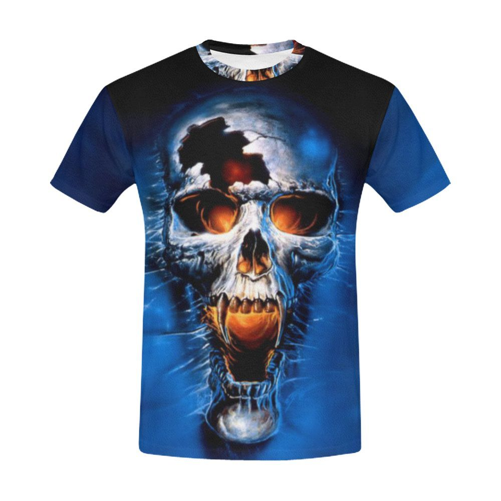 Menus all over print skull art tee products pinterest products