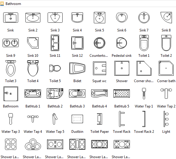 Kitchen Floor Plan Symbols Scale