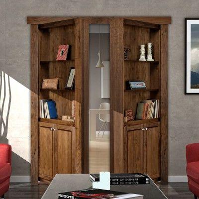 Flush Mount French Style Hidden Bookcase Door Hidden
