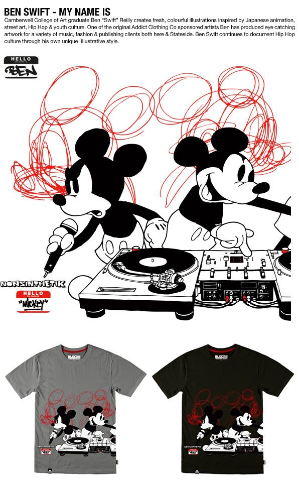 a8f0357b Bloc28 by Disney Mickey Mouse artist series t-shirt design by Nonsinthetik.