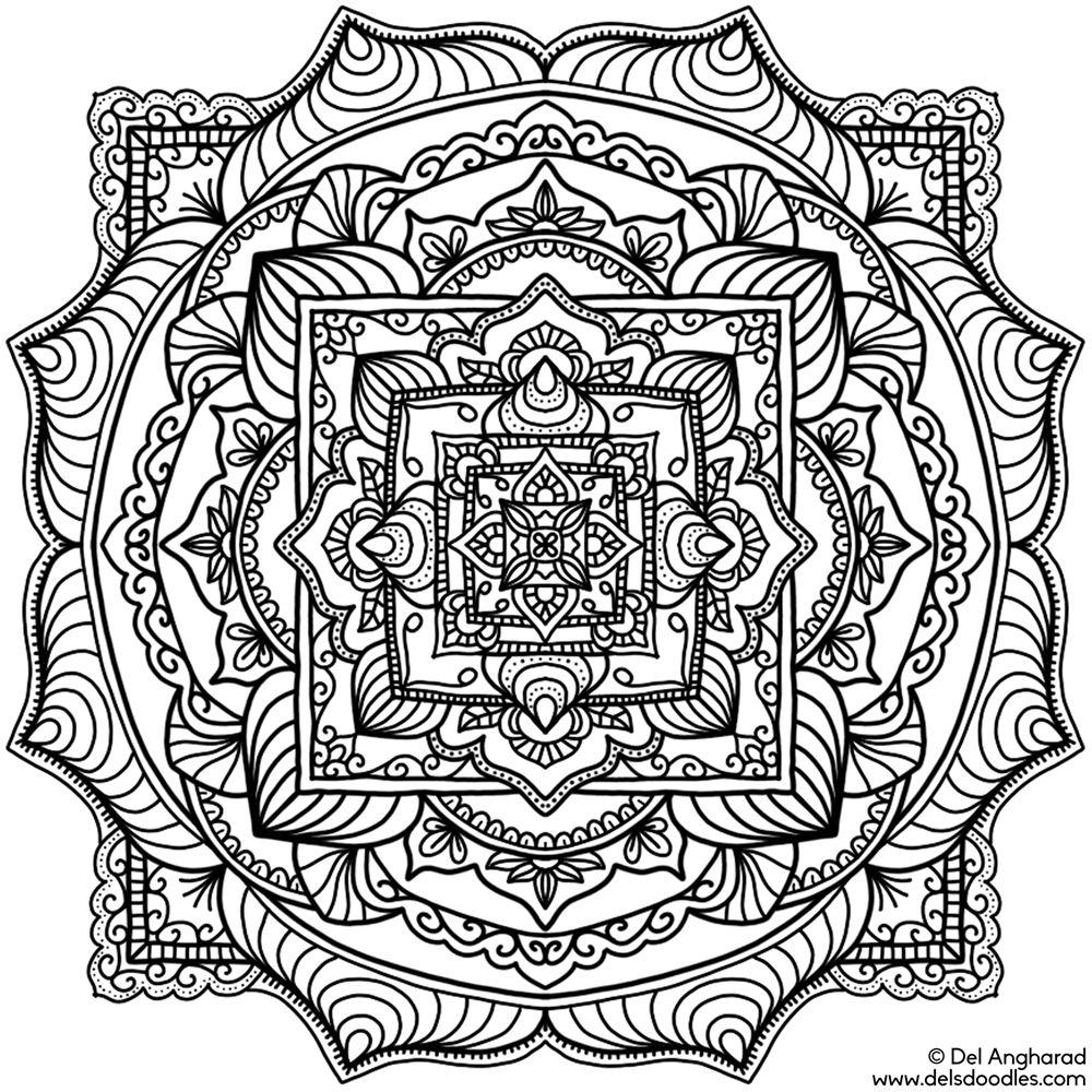 Krita Mandala 24 Mandala Coloring Pages Mandala Coloring Coloring Pages