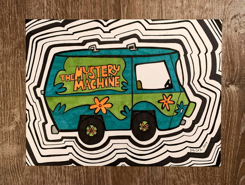 The Mystery Machine Funny Cool Car Truck Window Vinyl Decal Sticker Choose Color Tee Shirt Art Vinyl Decals Vinyl Decal Stickers