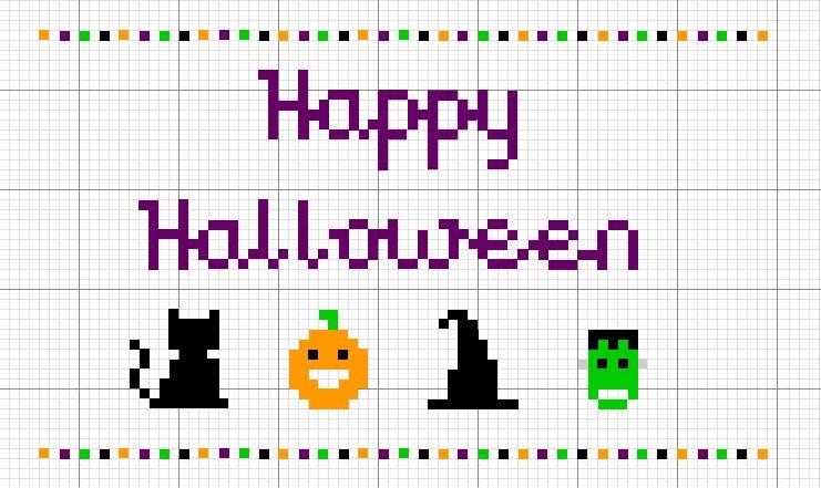 simple halloween cross stitch patterns - Google Search | cross ...